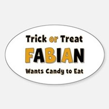 Fabian Trick or Treat Oval Decal