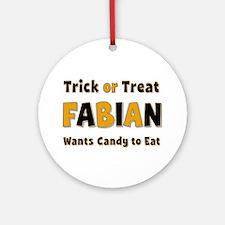 Fabian Trick or Treat Round Ornament