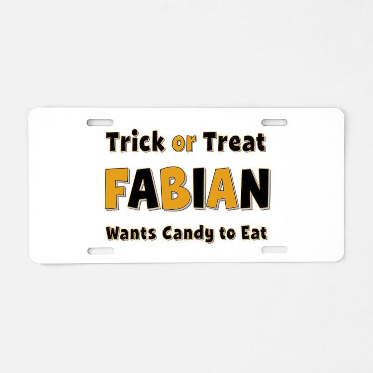 Fabian Trick or Treat Aluminum License Plate