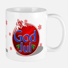 """God Jul"" Red Ornament Mug"