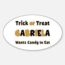 Gabriela Trick or Treat Oval Decal