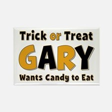 Gary Trick or Treat Rectangle Magnet