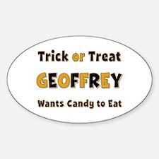 Geoffrey Trick or Treat Oval Decal