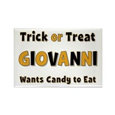 Giovanni Trick or Treat Rectangle Magnet