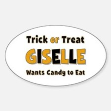 Giselle Trick or Treat Oval Decal