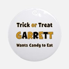 Garrett Trick or Treat Round Ornament