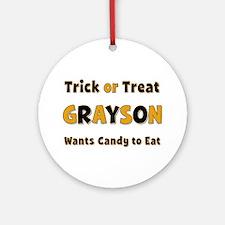 Grayson Trick or Treat Round Ornament