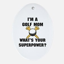 Golf Mom Ornament (Oval)