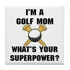Golf Mom Tile Coaster