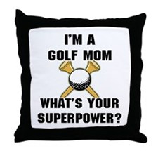 Golf Mom Throw Pillow
