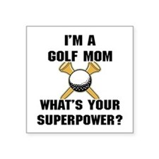 "Golf Mom Square Sticker 3"" x 3"""