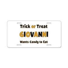 Giovanni Trick or Treat Aluminum License Plate