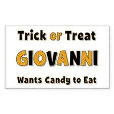 Giovanni Trick or Treat Rectangle Decal