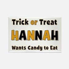 Hannah Trick or Treat Rectangle Magnet