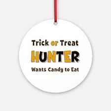 Hunter Trick or Treat Round Ornament