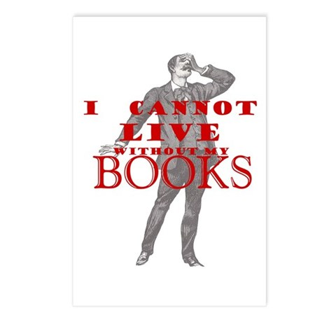 I cannot live without books - Postcards (Package o