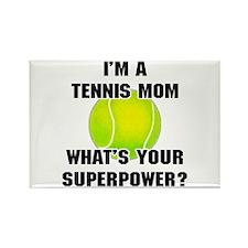 Tennis Mom Superhero Rectangle Magnet