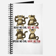 No Evil Fun Monkeys Journal