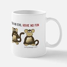 No Evil Fun Monkeys Mug