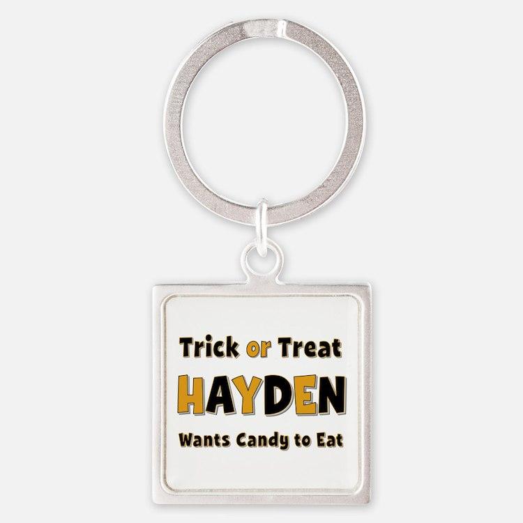 Hayden Trick or Treat Square Keychain