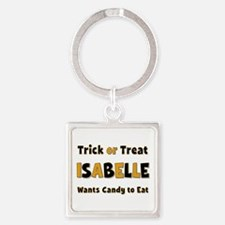 Isabelle Trick or Treat Square Keychain