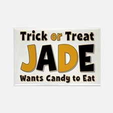 Jade Trick or Treat Rectangle Magnet