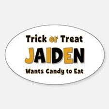 Jaiden Trick or Treat Oval Decal