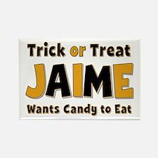 Jaime Trick or Treat Rectangle Magnet
