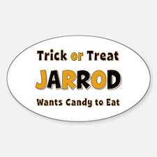 Jarrod Trick or Treat Oval Decal