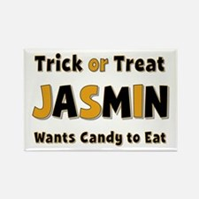 Jasmin Trick or Treat Rectangle Magnet