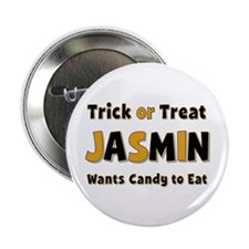 Jasmin Trick or Treat Button