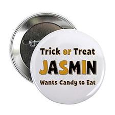 Jasmin Trick or Treat Button