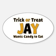 Jay Trick or Treat Oval Decal