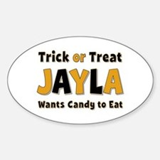 Jayla Trick or Treat Oval Decal