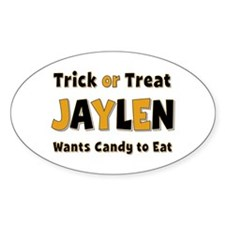 Jaylen Trick or Treat Oval Decal