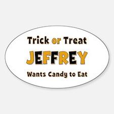 Jeffrey Trick or Treat Oval Decal
