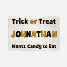 Johnathan Trick or Treat Rectangle Magnet