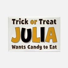 Julia Trick or Treat Rectangle Magnet