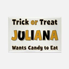 Juliana Trick or Treat Rectangle Magnet