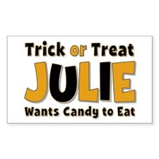 Julie Trick or Treat Rectangle Decal