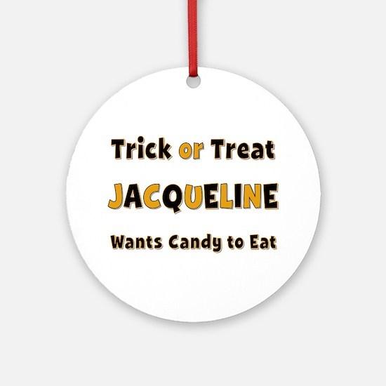 Jacqueline Trick or Treat Round Ornament