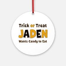 Jaden Trick or Treat Round Ornament