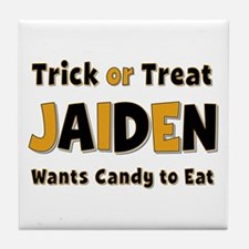 Jaiden Trick or Treat Tile Coaster