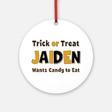 Jaiden Trick or Treat Round Ornament
