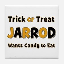 Jarrod Trick or Treat Tile Coaster