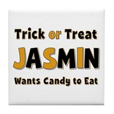 Jasmin Trick or Treat Tile Coaster