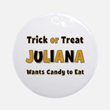 Juliana Trick or Treat Round Ornament