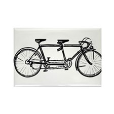 Tandem bike Rectangle Magnet