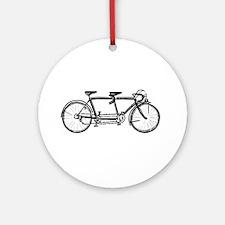 Tandem bike Ornament (Round)