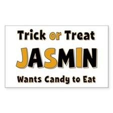 Jasmin Trick or Treat Rectangle Decal